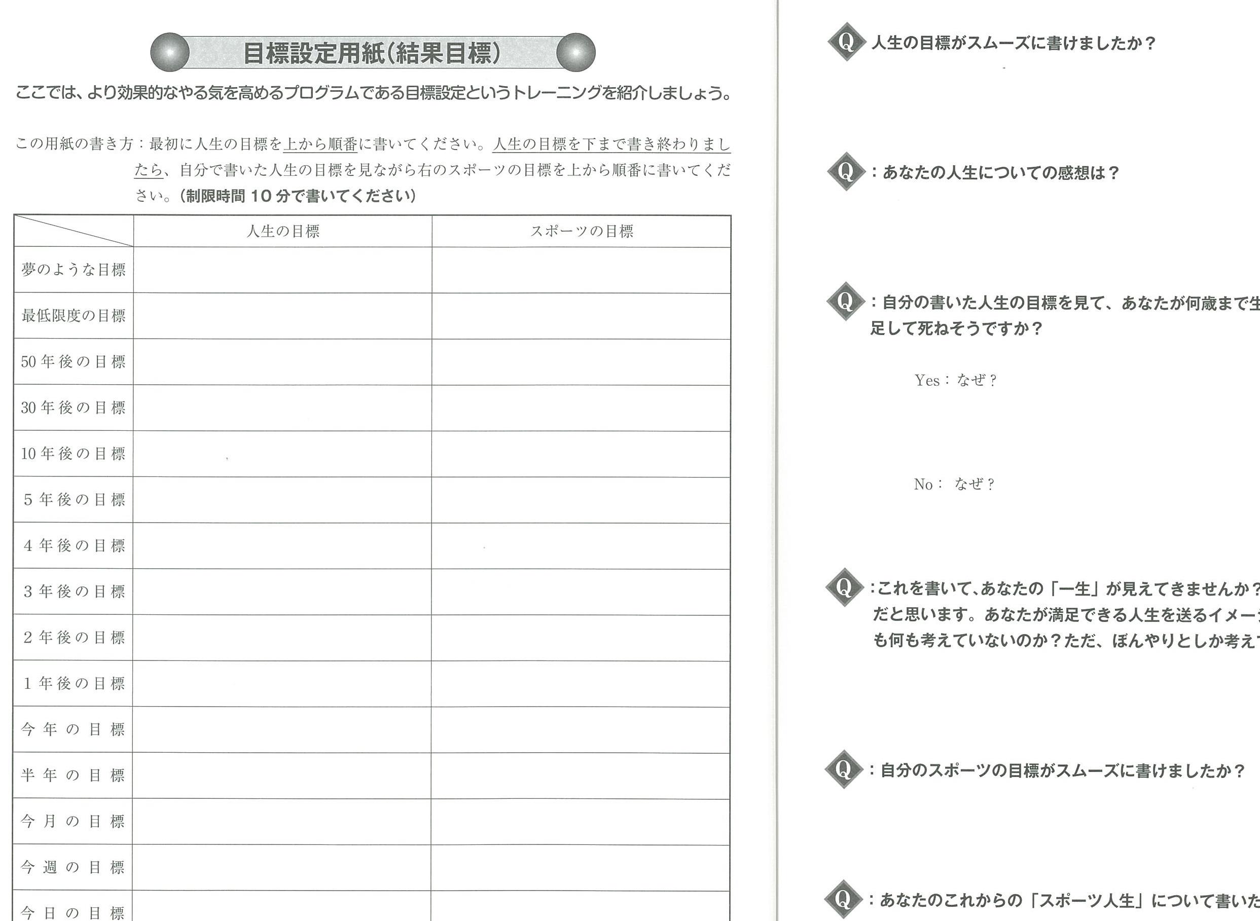 トレーニングワークブック内容(イメージ)