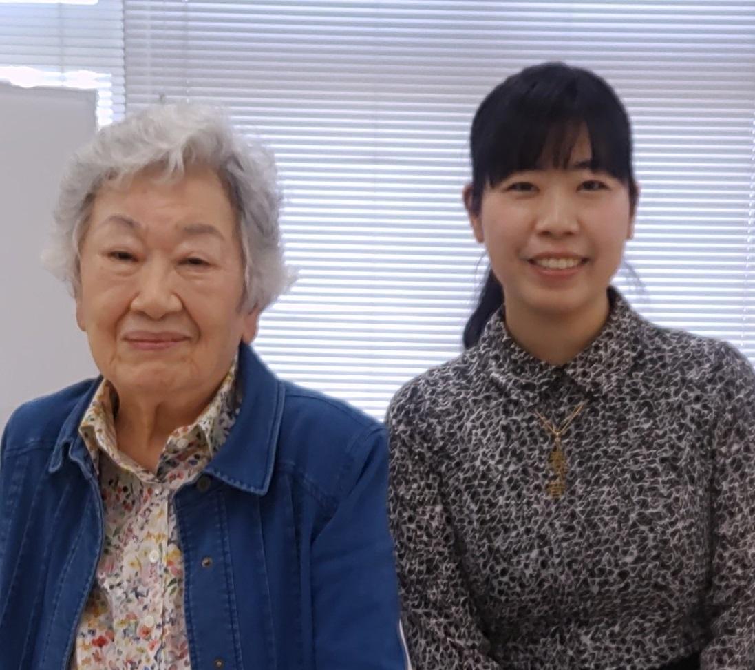 宇多喜代子先生(左)と神野紗希先生