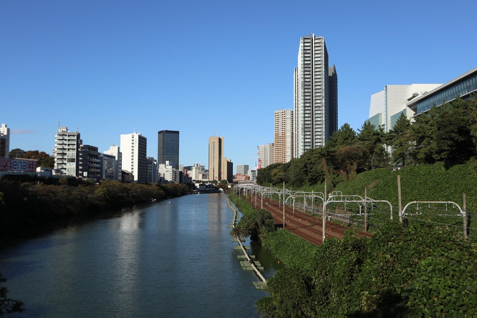 飯田橋会場前の外濠