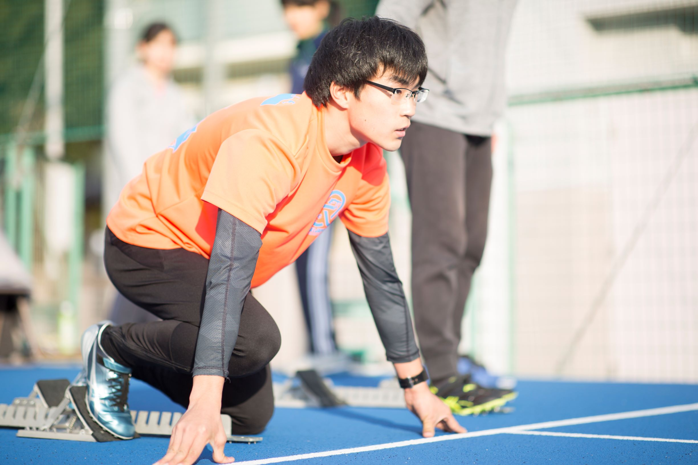 陸上部での練習写真(NHK学園東京本校グラウンドにて)
